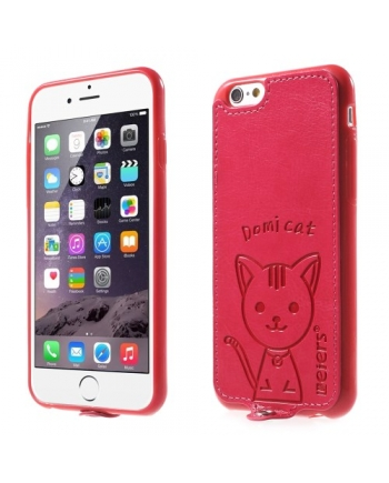 Husa din silicon & inlocuitor iPhone 6 Plus - Domi Cat