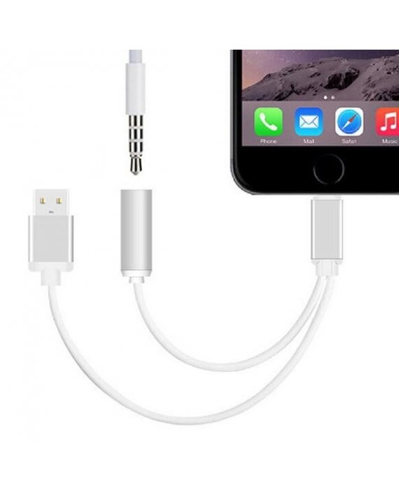 Cablu adaptor cu mufa jack si USB pentru iPhone 7 si 7 Plus – EuroCELL